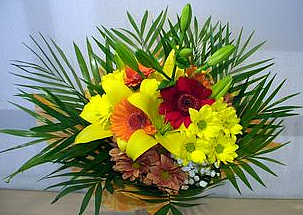 An elegant bouquet of bright colors