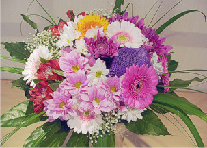 Gerbera, chrisantemums and alstroemria bouquet - Miranda