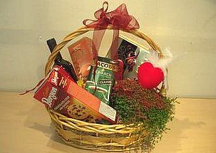 Gift basket with a flower