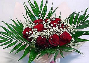 Bouquet of 9 red roses and million stars - Randevu